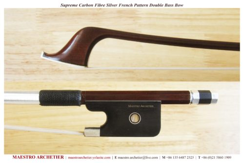 Maestro Achetier Supreme Bass Bow for sale at Bridgewood and Neitzert London