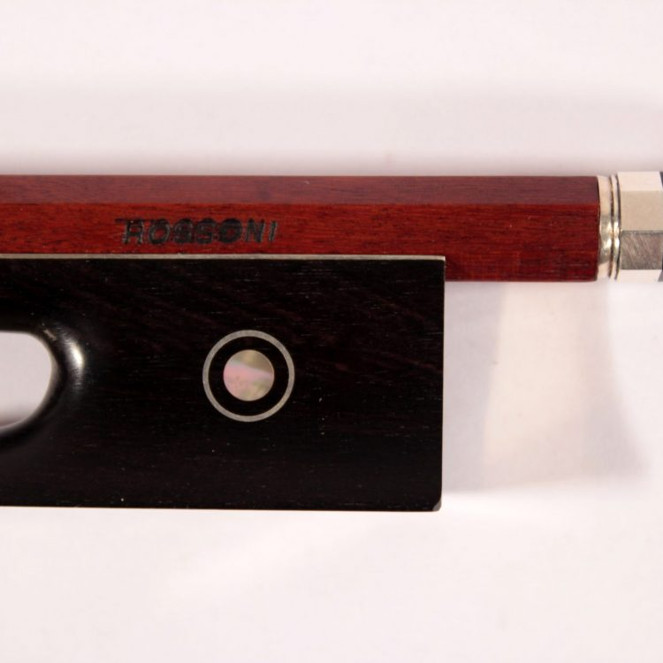 Violin bow by Rossoni for sale at Bridgewood and Neitzert London