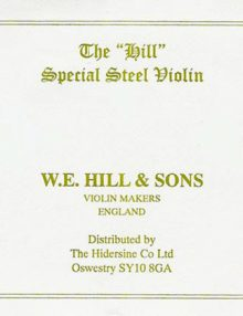 W E Hill & Sons Violin E String for sale by Bridgewood and Neitzert London