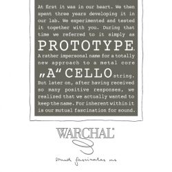 Warchal Prototype Cello Steel A String for sale at Bridgewood and Neitzert London