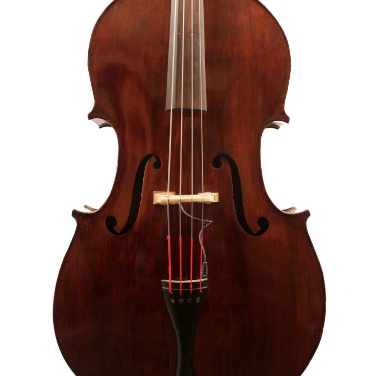 German c1870 double bass for sale at Bridgewood and Neitzert London