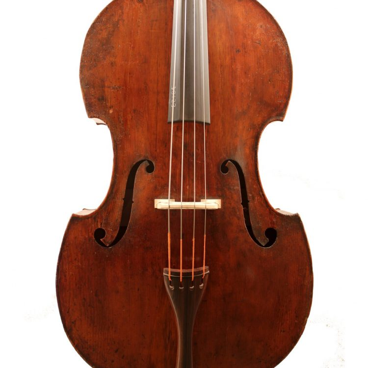 German double bass c1870 for sale at Bridgewood and Neitzert London