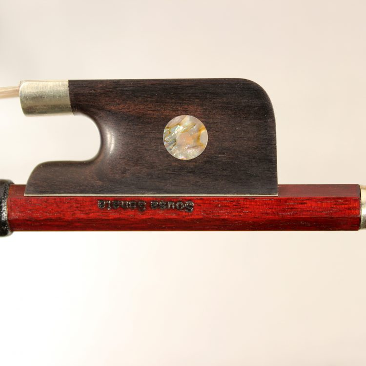 Cello bow 4/4 stamped A. Nardi, round stick, nickel mounted for sale at Bridgewood and Neitzert London