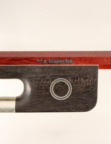 Cello Bow Brazilian Sousa workshop Artisan pernambuco nickel mounted for sale at Bridgewood and Neitzert London
