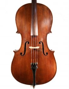 German (Saxon) cello c.1890 for sale at Bridgewood and Neitzert London
