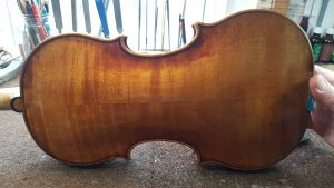 Original back of Amati composite