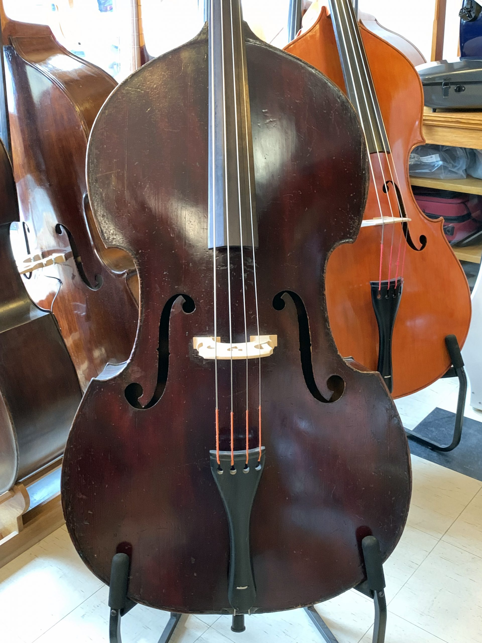 French Mirecourt bass by J. Thibouville-Lamy c.1900 for sale at Bridgewood and Neitzert London