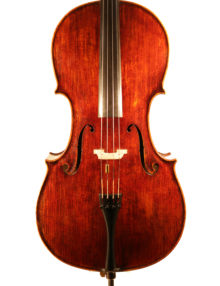 Cello labelled Sacconi for sale at Bridgewood and Neitzert London