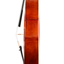 Cello by Charles Georges Brugere sold through Eugene Henry, Mirecourt 1898